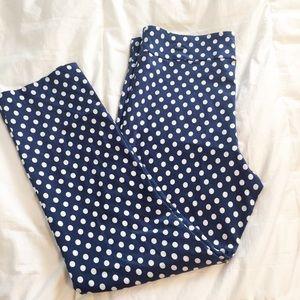 Pants - Margaret M Slimming Polka Dot Straight Leg Pants